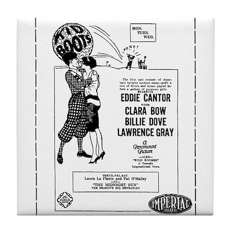 Clara Bow Eddie Cantor Tile Coaster