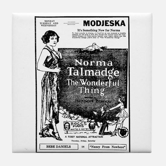Norma Talmadge The Wonderful Thing Tile Coaster