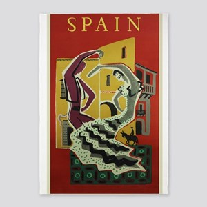 Spain,Flamenco, Travel, Vintage Poster 5'x7'Area R
