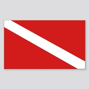 SCUBA Rectangle Sticker