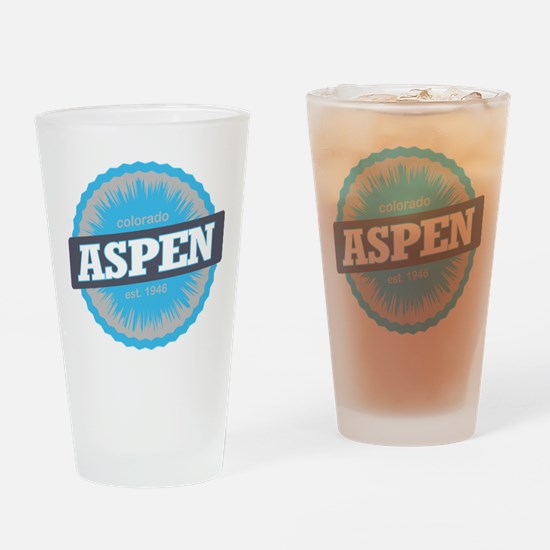Aspen Ski Resort Colorado Sky Blue Drinking Glass