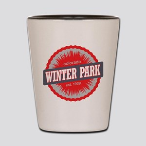 Winter Park Ski Resort Colorado Red Shot Glass