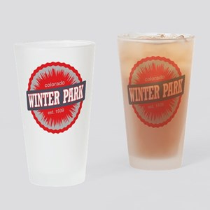 Winter Park Ski Resort Colorado Red Drinking Glass