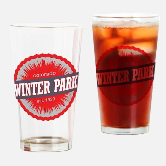 Winter Park Ski Resort Colorado Red Drinking Glass