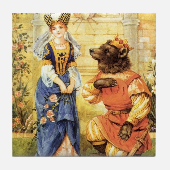 Vintage Beauty and the Beast Tile Coaster