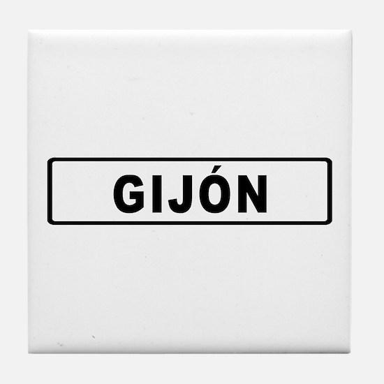 Roadmarker Gijón - Spain Tile Coaster