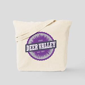 Deer Valley Ski Resort Utah Purple Tote Bag