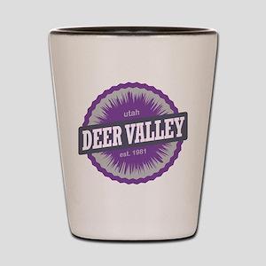Deer Valley Ski Resort Utah Purple Shot Glass