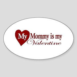 Mommy Valentine Oval Sticker