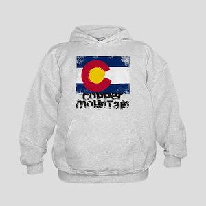 Copper Mountain Grunge Flag Kids Hoodie