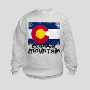 Copper Mountain Grunge Flag Kids Sweatshirt
