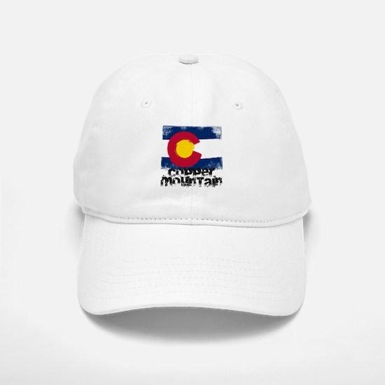 Copper Mountain Grunge Flag Baseball Baseball Cap