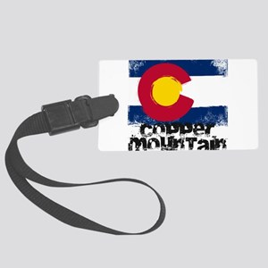 Copper Mountain Grunge Flag Large Luggage Tag