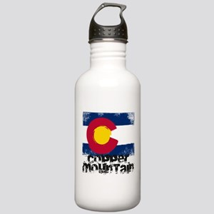 Copper Mountain Grunge Flag Stainless Water Bottle