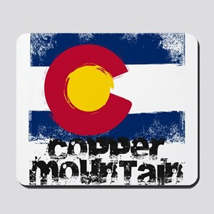 Copper Mountain Grunge Flag Mousepad