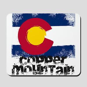 Copper Mountain Grunge Flag Mousepad