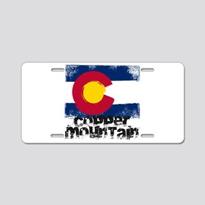 Copper Mountain Grunge Flag Aluminum License Plate