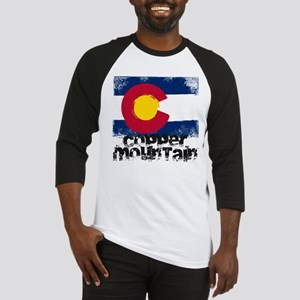Copper Mountain Grunge Flag Baseball Jersey