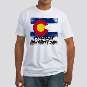 Copper Mountain Grunge Flag Fitted T-Shirt