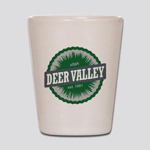 Deer Valley Ski Resort Utah Green Shot Glass