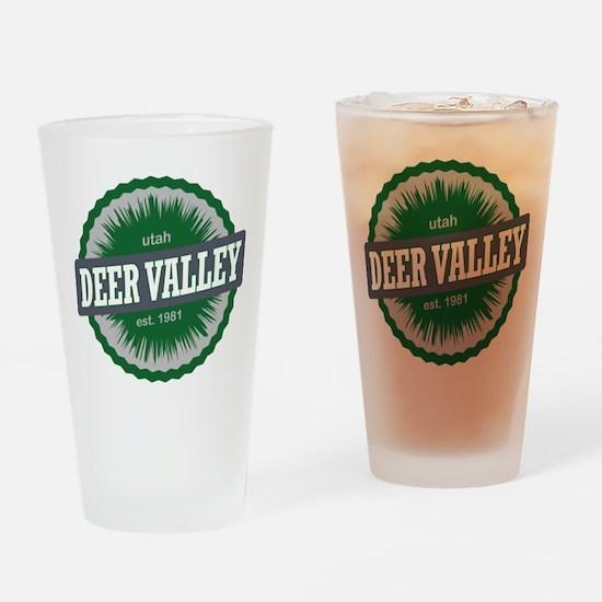 Deer Valley Ski Resort Utah Green Drinking Glass