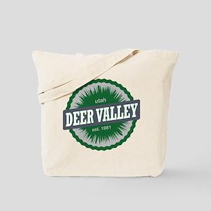 Deer Valley Ski Resort Utah Green Tote Bag