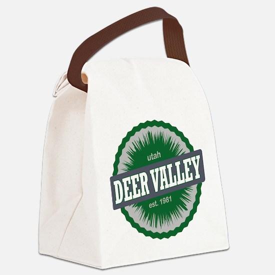 Deer Valley Ski Resort Utah Green Canvas Lunch Bag