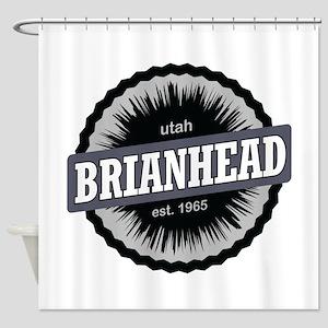 Brian Head Ski Resort Utah Black Shower Curtain