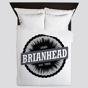 Brian Head Ski Resort Utah Black Queen Duvet