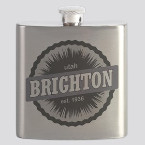 Brighton Ski Resort Utah Black Flask