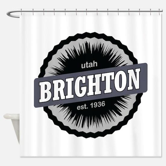 Brighton Ski Resort Utah Black Shower Curtain