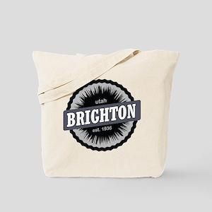 Brighton Ski Resort Utah Black Tote Bag