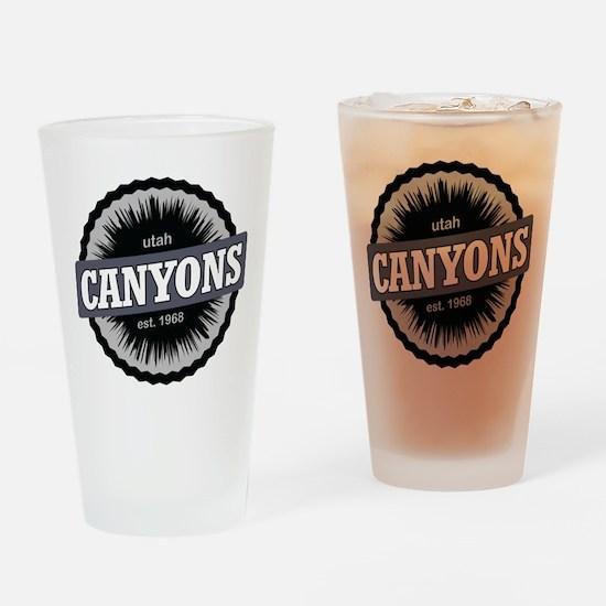 The Canyons Ski Resort Utah Black Drinking Glass