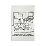 Doing Dishes the Organic Way Rectangle Magnet (10