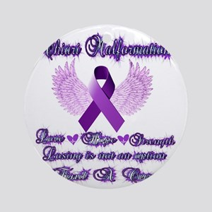 Chiari Awareness Round Ornament