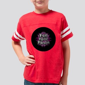 Fight-Cystic-Fibrosis-Button Youth Football Shirt