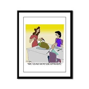 Give Me Your Stuffing Recipe Framed Panel Print