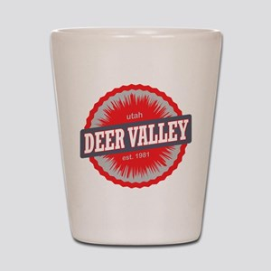 Deer Valley Ski Resort Utah Red Shot Glass