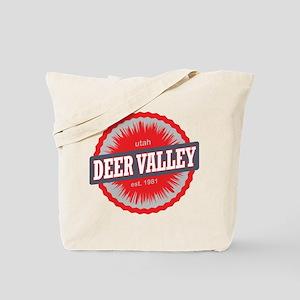 Deer Valley Ski Resort Utah Red Tote Bag