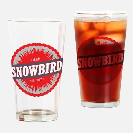 Snowbird Ski Resort Utah Red Drinking Glass