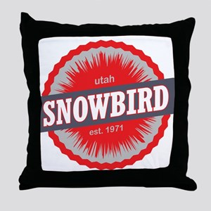 Snowbird Ski Resort Utah Red Throw Pillow