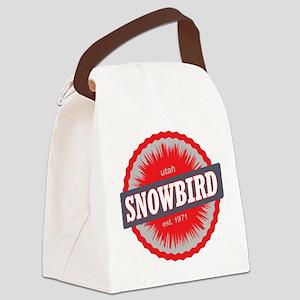 Snowbird Ski Resort Utah Red Canvas Lunch Bag