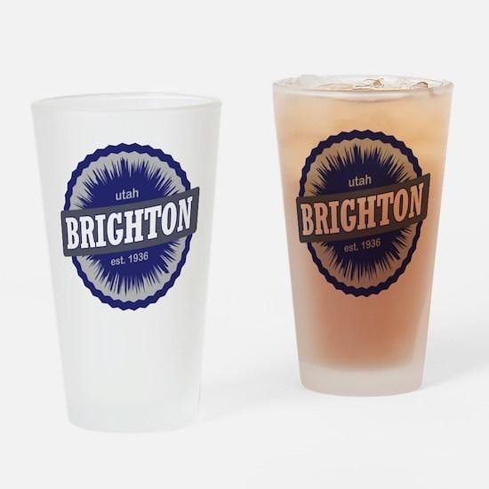 Brighton Ski Resort Utah Blue Drinking Glass