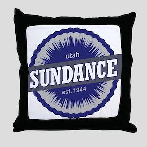 Sundance Ski Resort Utah Blue Throw Pillow