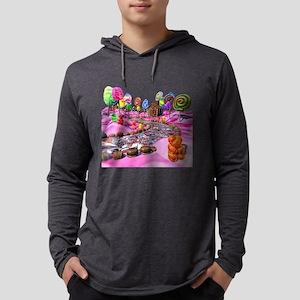 Pink Candyland Mens Hooded Shirt
