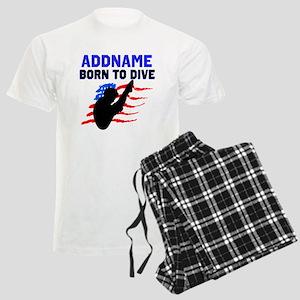 BORN TO DIVE Men's Light Pajamas