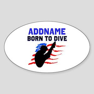 BORN TO DIVE Sticker (Oval)