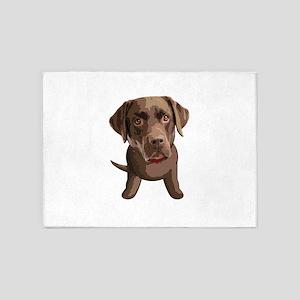 Labrador_Retriever003 5'x7'Area Rug