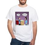 Movie Pop and Popcorn White T-Shirt