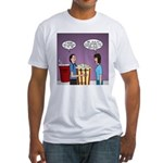 Movie Pop and Popcorn Fitted T-Shirt